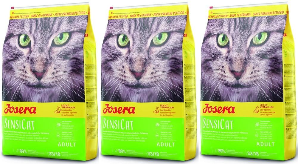 Josera SensiCat 3 x 10 kg Katzenfutter