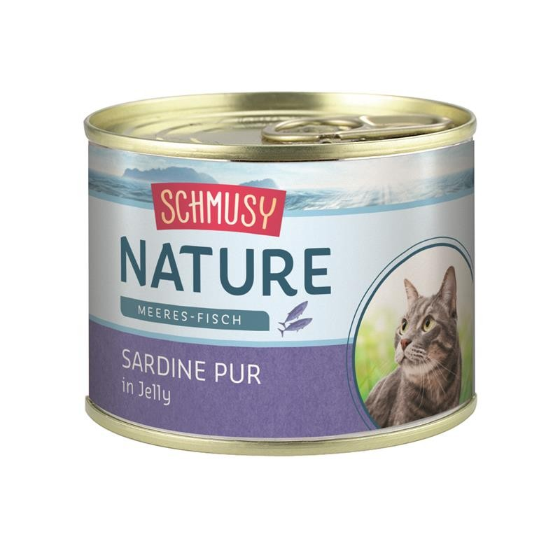 Schmusy Nature Meeres-Fisch Dose Sardine pur 12 x 185g