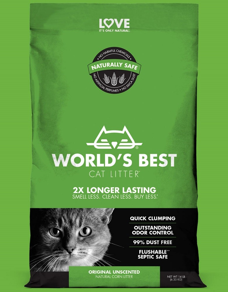 Worlds Best Cat litter GRÜN clumping 3,18 kg Katzenstreu
